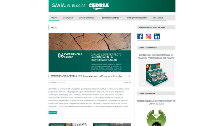Savia, el blog de Cedria
